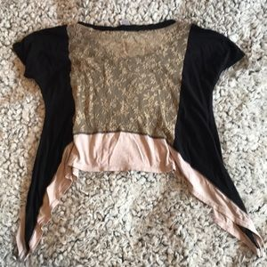 Tops - Lace back Crop